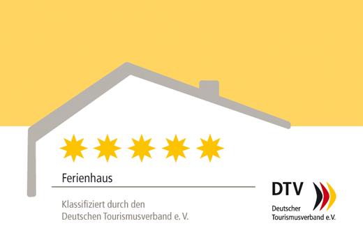 5-Sterne-Ferienhaus, klassifiziert durch den Deutschen Tourismusverband e. V.